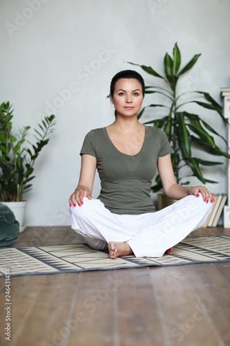 Leinwandbild Motiv Yoga workout