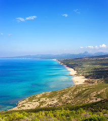 Sardegna, panorama della costa di Scivu e Piscinas, ad Arbus  © Alessio Orrù
