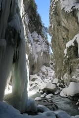 Partnachklamm Eiszapfen im Winter