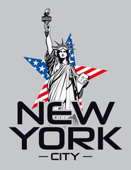 Statue of Liberty, New York. Vector