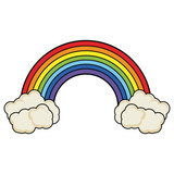 Rainbow with clouds - 246509492