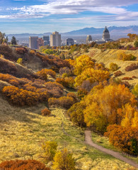 Brilliant fall scenery in Salt Lake City Utah © Jason