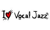 Vocal Jazz music style love