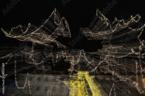 Abstract moving city lights - 246562089