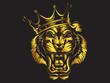Tiger angry face gold tattoo. Vector illustration of big cat head. Tiger angry logo. Safari animal.
