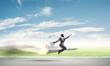Leinwandbild Motiv Business success and targets achievement concept.