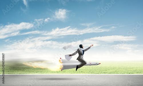 Leinwanddruck Bild Business success and targets achievement concept.