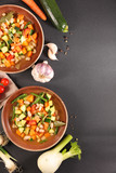 minestrone, vegetable soup - 246590457