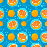 Grapefruit seamless pattern. Sketch grapefruites. Citrus fruit background. Elements for menu, greeting cards, wrapping paper, cosmetics packaging, posters etc
