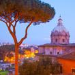 Roman cityscape st twilight