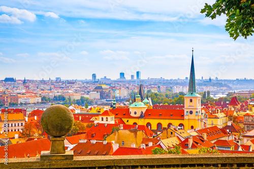 Panoramic vew of Prague