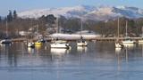 Waterhead, Lake Windermere in Winter, England - 246612211
