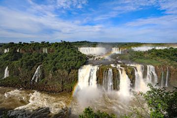 Beautiful Iguazu Falls in both Argentina and Brazil, South America.