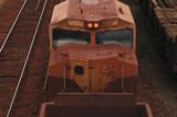 old rusted diesel locomotive