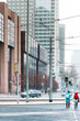 Frankfurt, Germany - January 22, 2019: Street view of downtown Frankfurt, Germany.