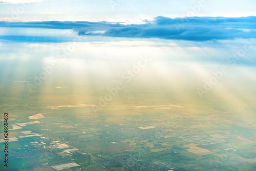 Airplane view of village landscape - 246684663