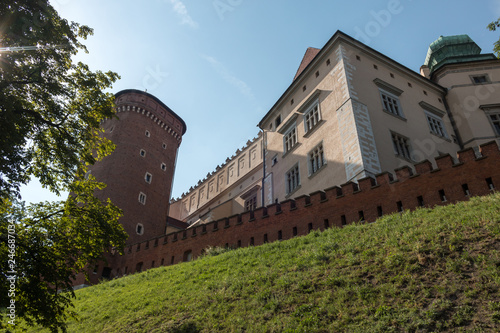 Krakow, Poland - The tower of old Royal Wawel Castle