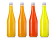 Quadro bottle with tasty  drink