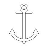 anchor marine symbol black and white