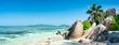 Leinwanddruck Bild - Seychellen Panorama als Hintergrund