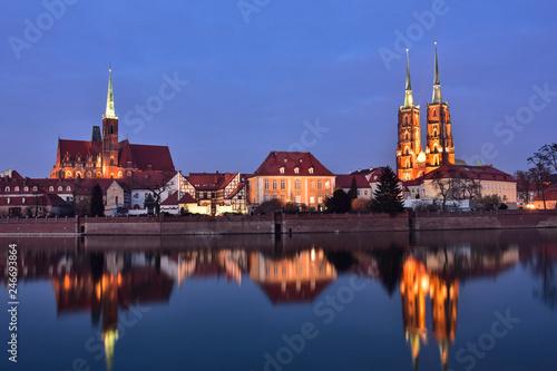 obraz PCV Miasto Wrocław - Ostrów Tumski