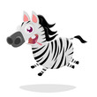 funny zebra cartoon illustration