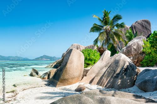 Leinwanddruck Bild Anse Source d'Argent, La Digue, Seychellen