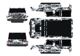 Jeep body graphic (white camouflage)