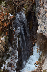 beautiful winter mountain nature