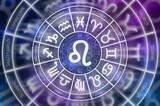 Zodiac Leo symbol inside of horoscope circle