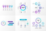 Set Of Infographics Elements Vector Design Template. Business Data Visualization Infographics Timeline with Marketing Icons most useful can be used for workflow, presentation, diagrams, reports - 246749618