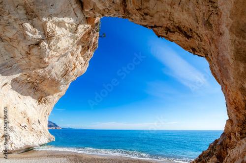 Leinwandbild Motiv Third Cave of Cala Luna, Sardinia