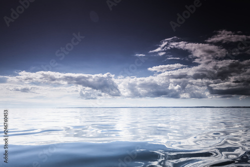seascape sea horizon and sky. - 246760453