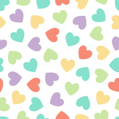 Hearts vector background. Valentines day card, greeting, wedding, symbol. Seamless hearts pattern