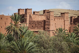 Kasbah Ait Ben Haddou in the Atlas Mountains of Morocco. UNESCO World Heritage Site. a fortified city near ouarzazate in Morocco. Great example of earthen architecture. - 246776695