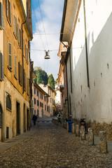 Street in Bergamo, Italy.
