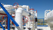 Leinwandbild Motiv Oil refinery, primary oil refining