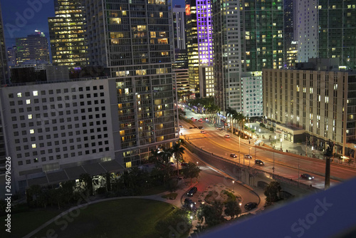 Downtown Miami at night - 246796226