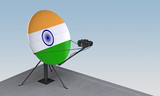 satellite dish with the flag of India