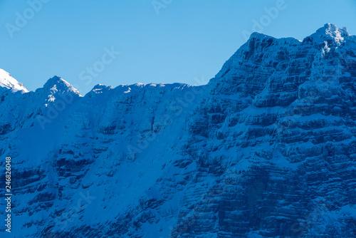 Winterlandschaft rund um die Steinplatte in Tirol