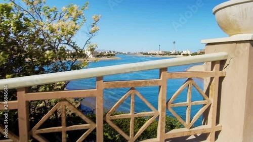 footage of modern city El Gouna in Egypt