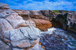 france; brittany; Quiberon :  cliffs and waves