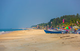 Boote am Strand in West Indien