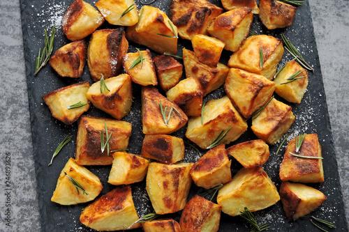 Baked potato slices. - 246893626