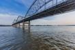 Centennial Bridge over Mississippi River in Davenport, Iowa, USA