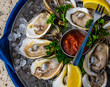 Raspberry Point Oysters on the Halfshell