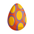 egg painted happy easter icon