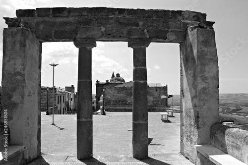 Italy: Antique ruins in Sambuca of Sicily.