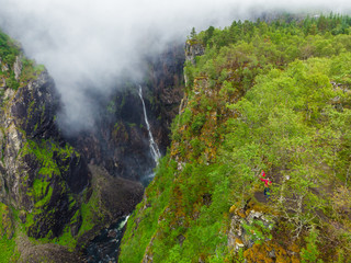 Voringsfossen waterfall, Mabodalen canyon Norway © Voyagerix