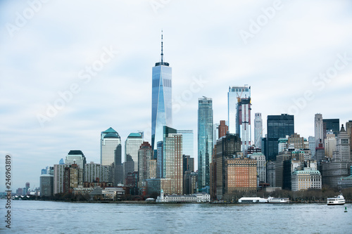 View Of Manhattan Skyline Over Hudson River - 246963819